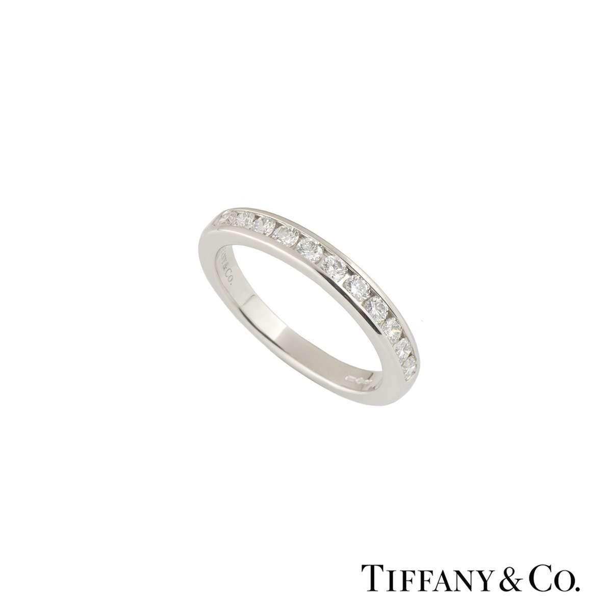 Tiffany & Co. Platinum Diamond Wedding Band 0.33ct
